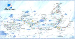 Plan de la station de Les Menuires